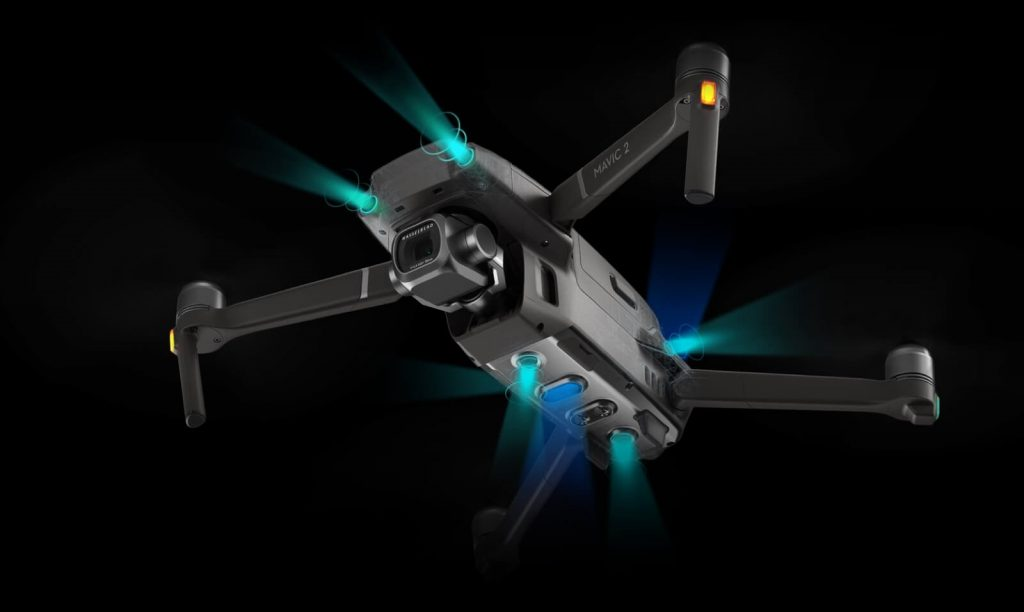 dron DJI Mavic 2 sensores obstaculos