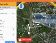 Aplicacion Delair After Flight para drone industrial UX11