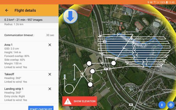 Aplicacion Delair After Flight para drone industrial UX11