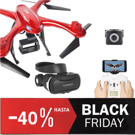 Dron FPV MJX 102H gafas RV Descuento Black Friday