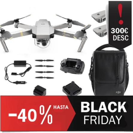 drone DJI Mavic Pro Platinum Combo Fly More Descuento Black Friday
