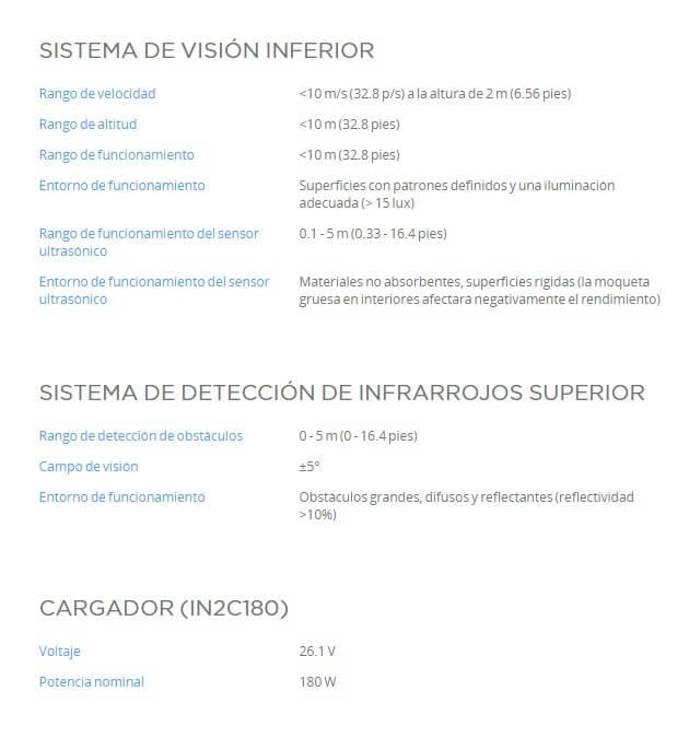 Caracteristicas DJI Matrice 210 V2 Sistemas