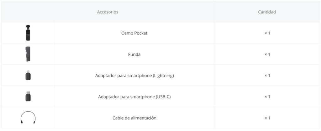 DJI Osmo Pocket Que incluye