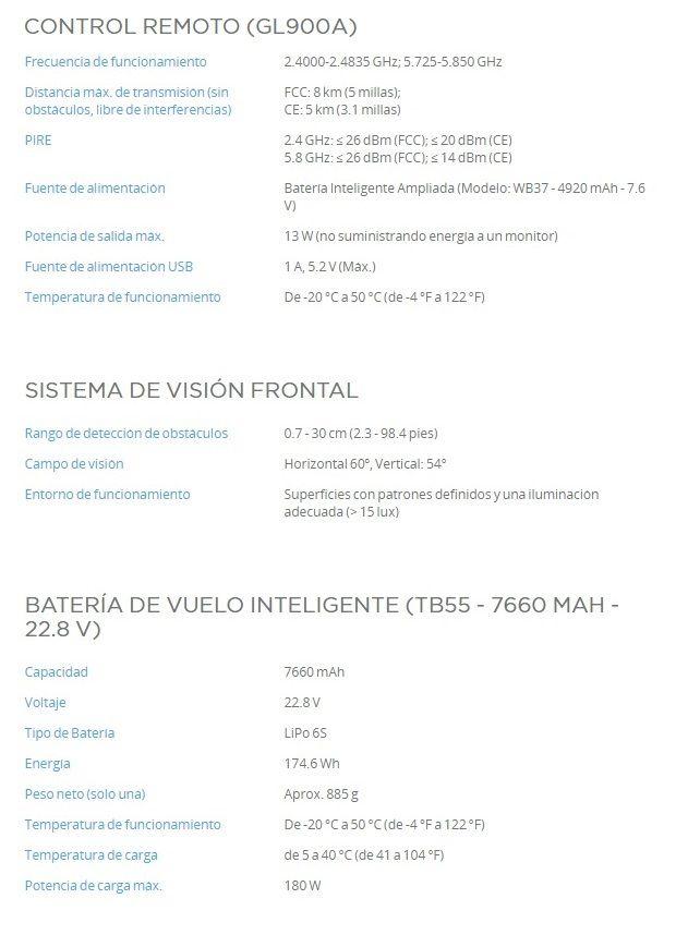 Caracteristicas DJI Matrice 200 V2 Control remoto