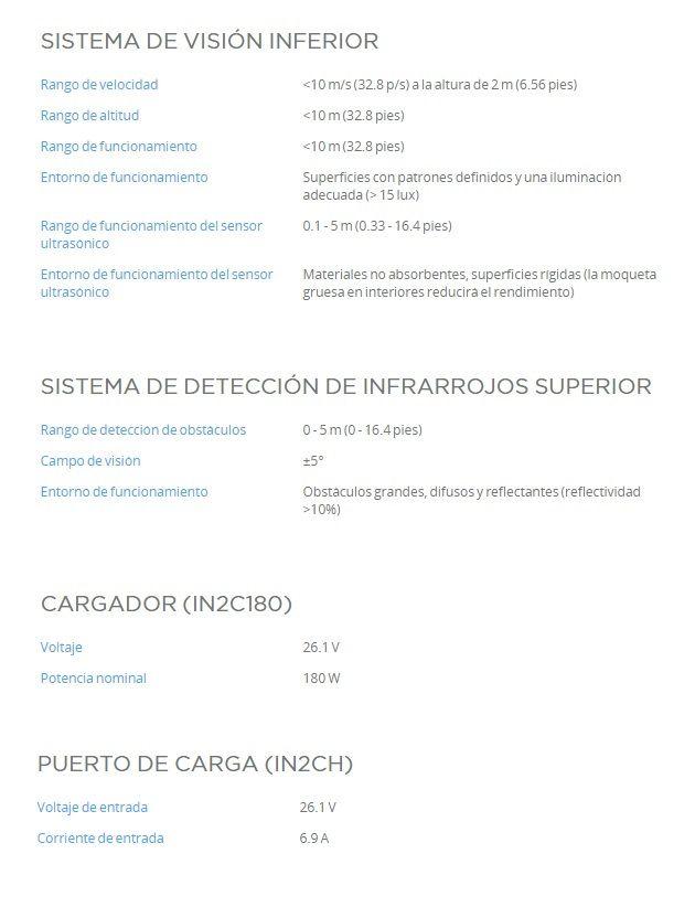 Caracteristicas DJI Matrice 200 V2 Sistemas