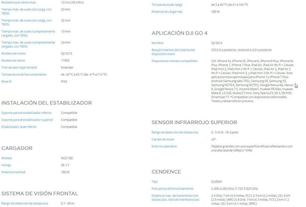 Caracteristicas DJI Matrice 210 RTK