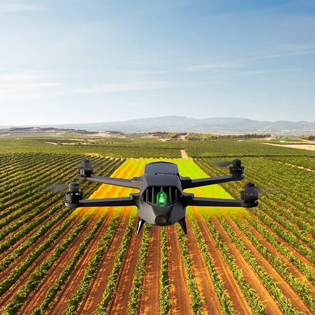 drone agricultura parrot bluegrass fields