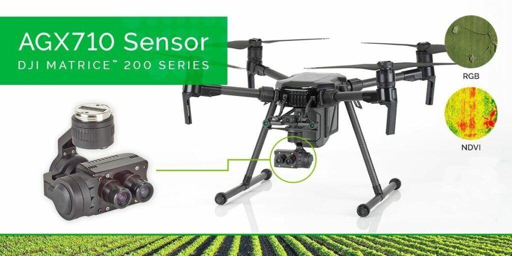 Sensor multiespectral Sentera AGX710 RGB NDVI