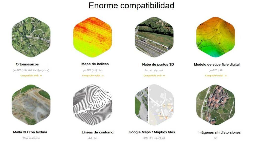 drone mapeador 3D SenseFly eBee X compatibilidad