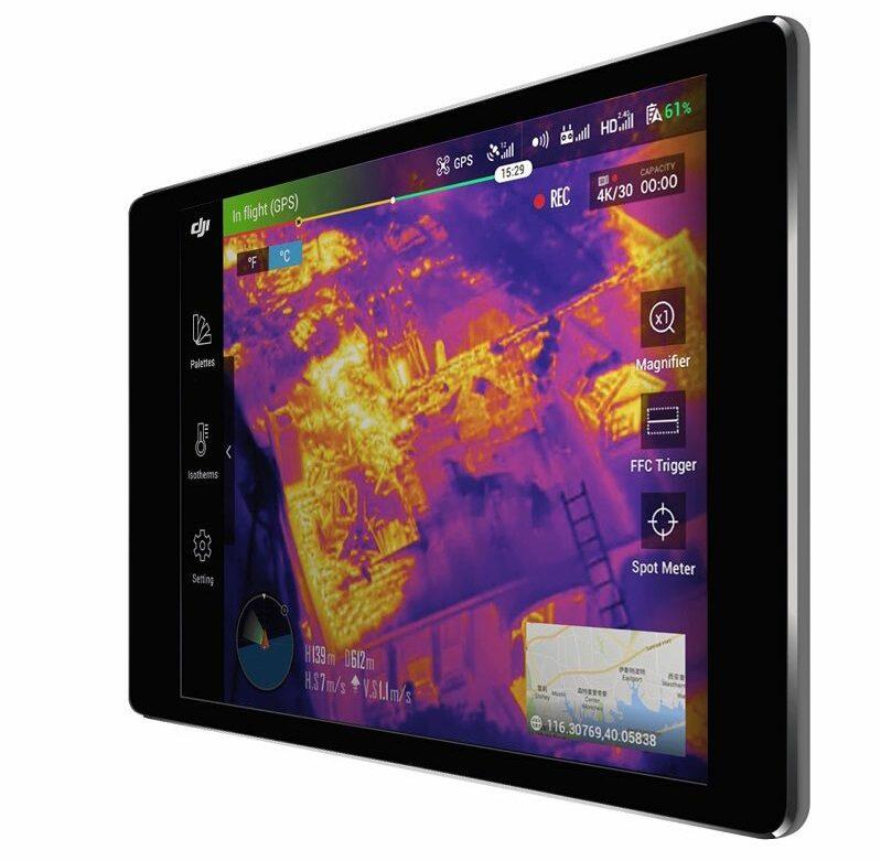 App DJI Pilot Sensor dual DJI Zenmuse XT2.