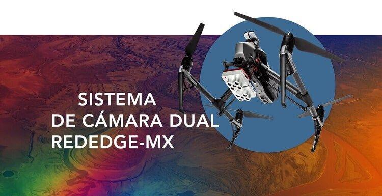 Camara dual Multiespectral MicaSense RedEgde MX