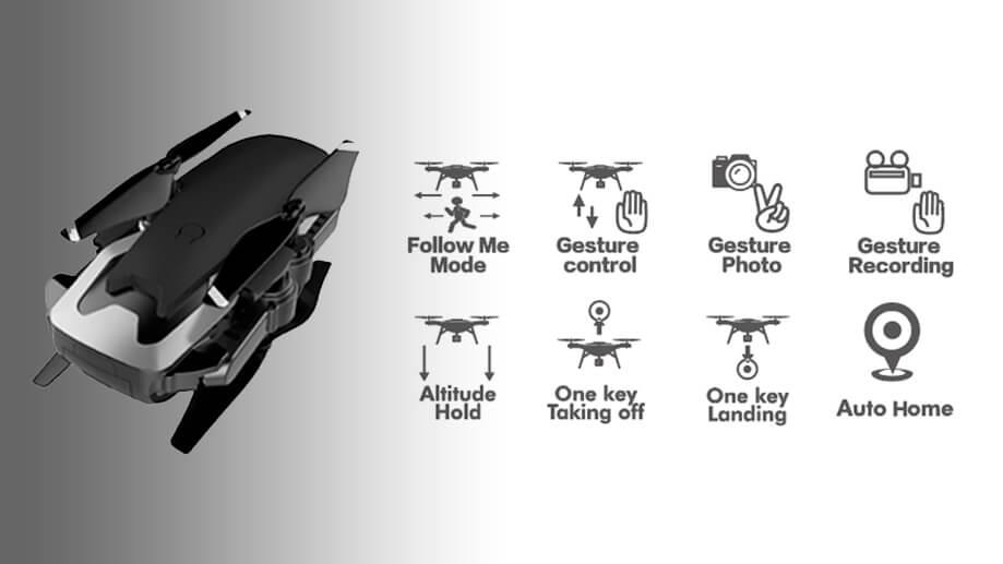 THE FOLLOWER FOLDABLE GESTURE SENSOR DRONE MODES