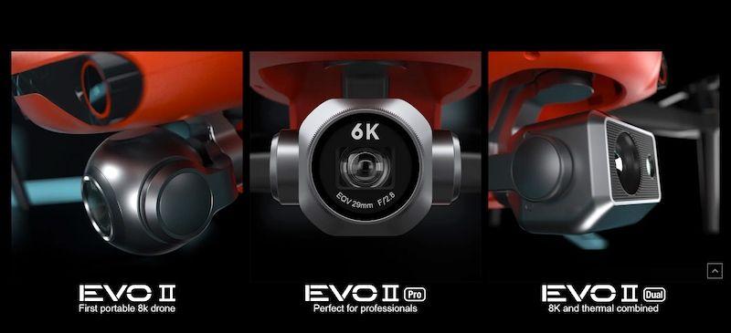 EVO 2 Camaras 8K y termica