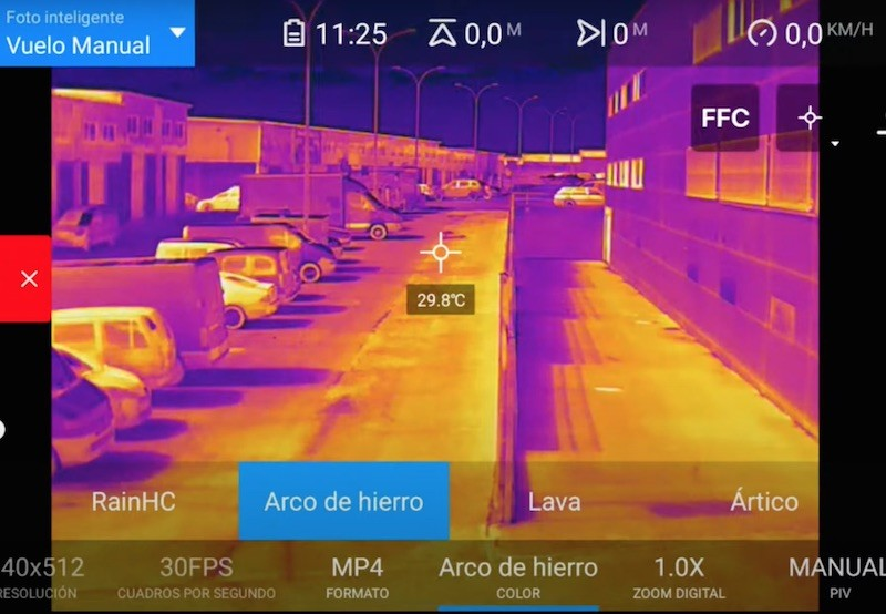 Camara termica radiometrica drone autel evo 2