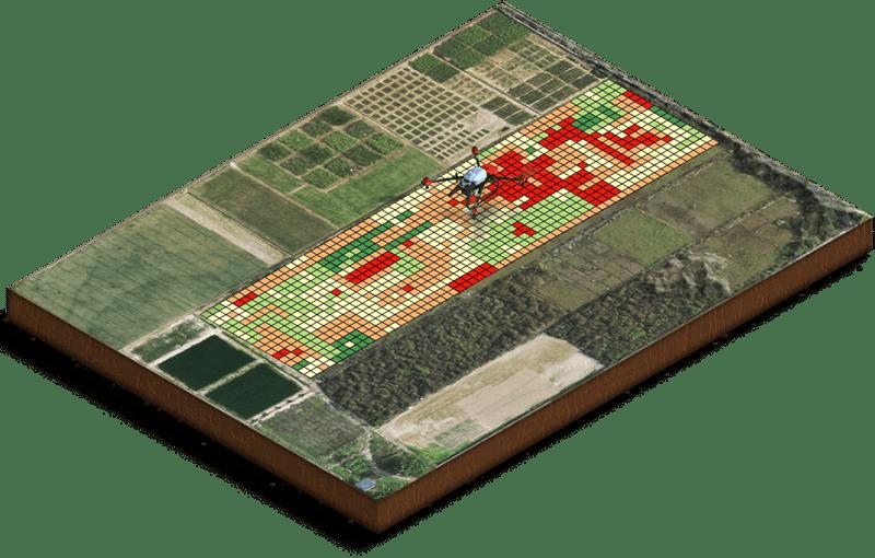 XAG P30 mapeo de tratamiento de terreno con XAgri