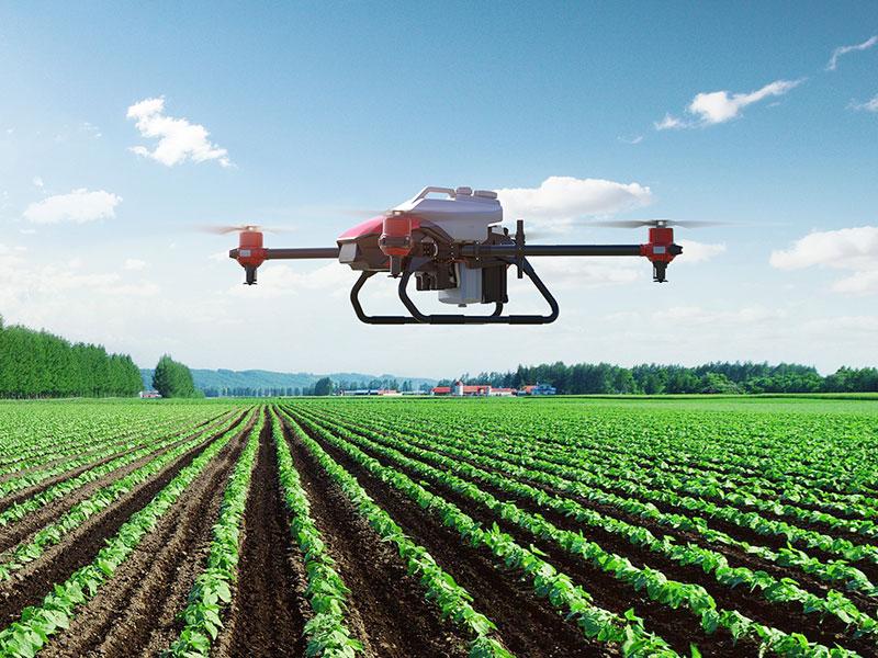 XAG XPlanet volando sobre un cultivo