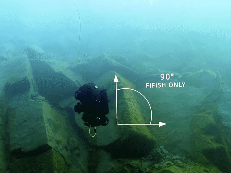 Bloqueo de posición a 90º del QYSEA Fifish PRO V& PLUS