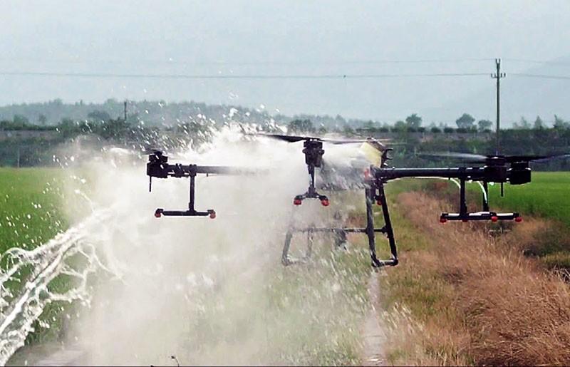 El Agras T30 es estanco e impermeable. Protección de estanqueidad IP67