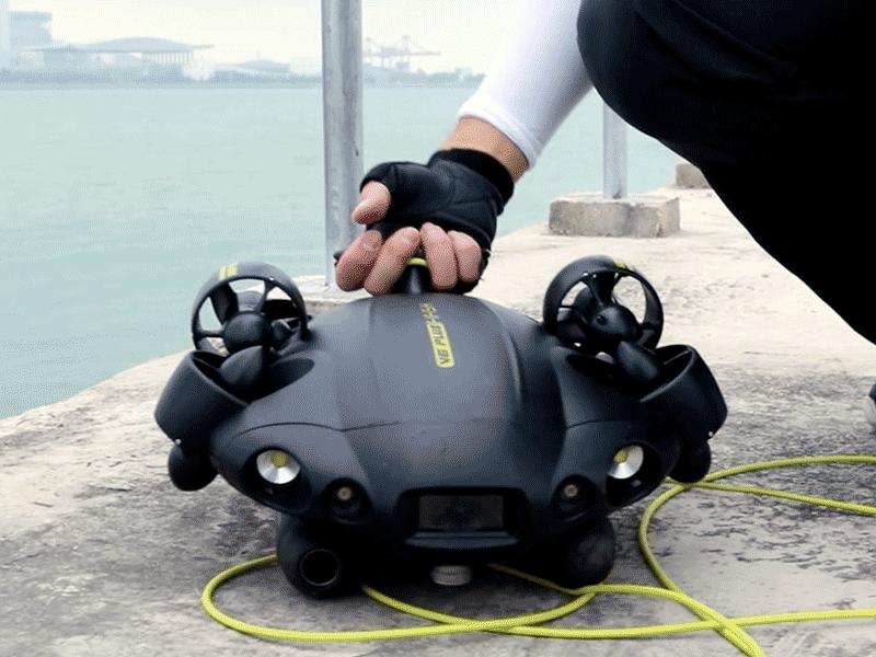 El Fifish PRO es un ROV ligero de 5 kg de peso