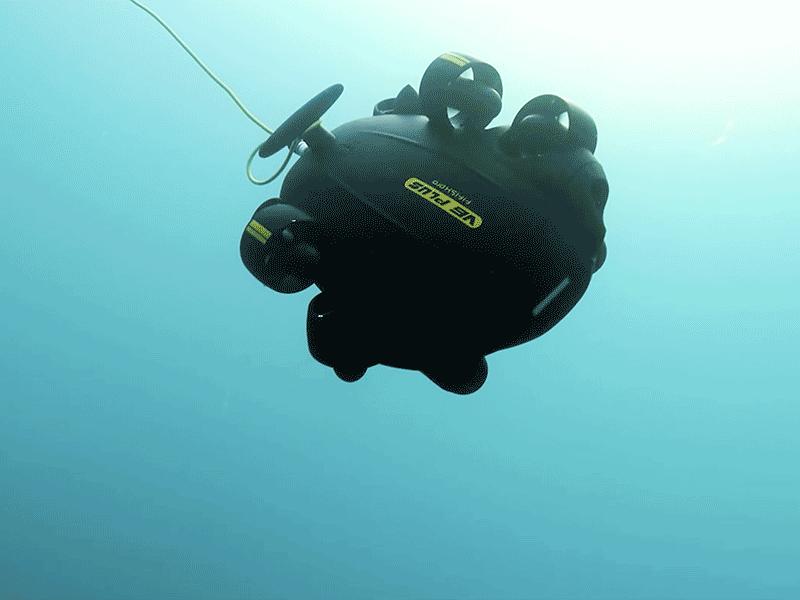 QYSEA Fifish PRO V& PLUS iniciando inmersión