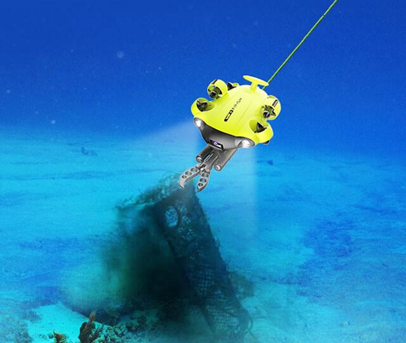 El QYSEA Fifish V6 ROV tiene una autonomia de 6 horas y puede sumeergirse hasta los 100 metros de profundidad.