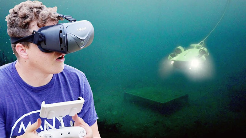 Con las gafas VR de QYSEA la experiencia inmersiva bajo el agua es increible