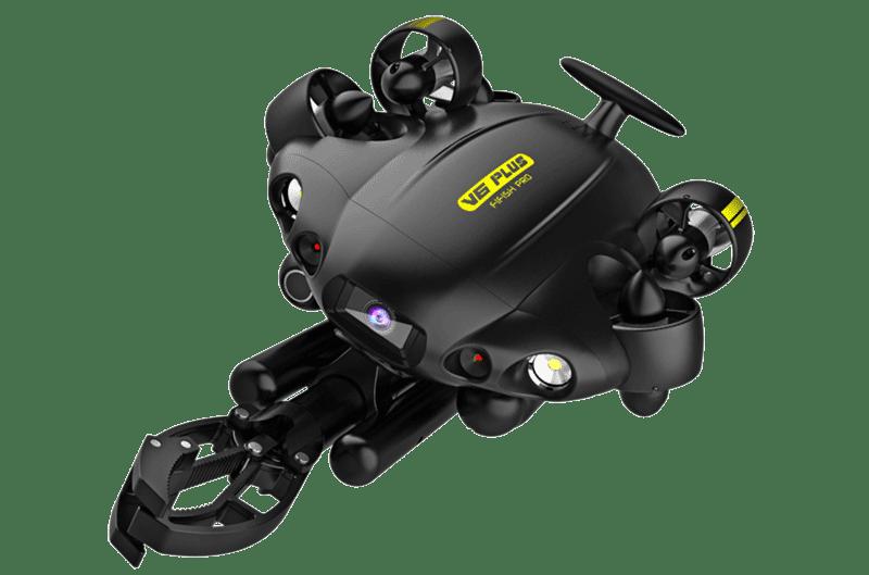 Fifish PRO V6 PLUS equipado con brazo robótico.