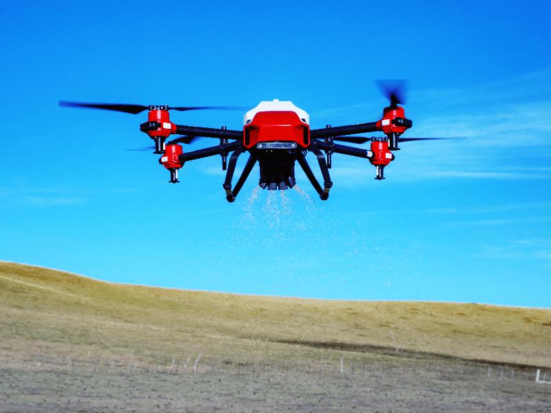 Deposito inteligente de esparcido de semillas y fertilizante para drones agrícolas XAG JetSeed