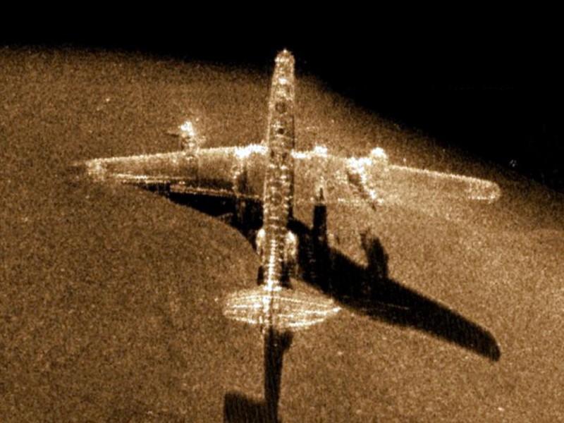 Imagen Sonar de barrido del fondo marino.