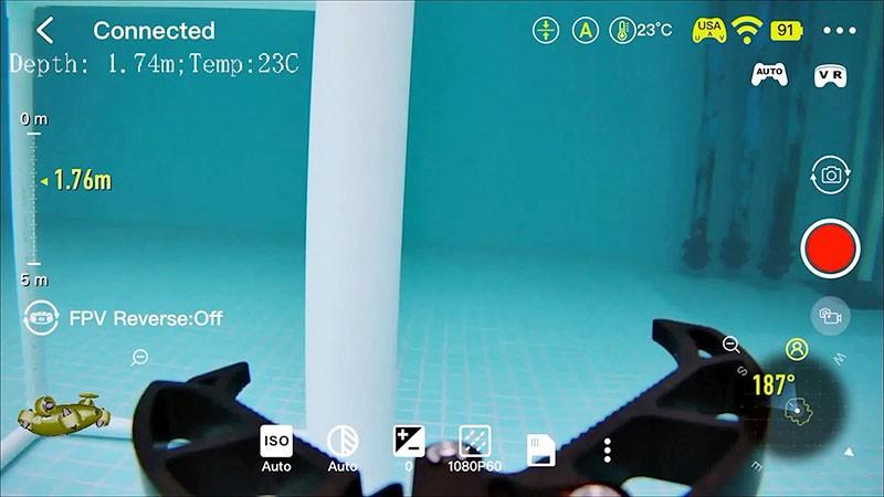 La App Fifish permite capturar imágenes con un solo botón