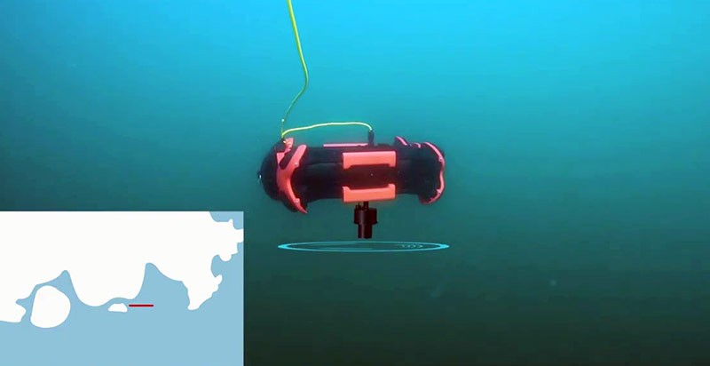 El módulo de posicionamiento USLB permite que el chasing se posicione de forma precisa bajo el agua.