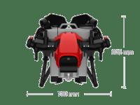 XAG V40 plegado para transporte