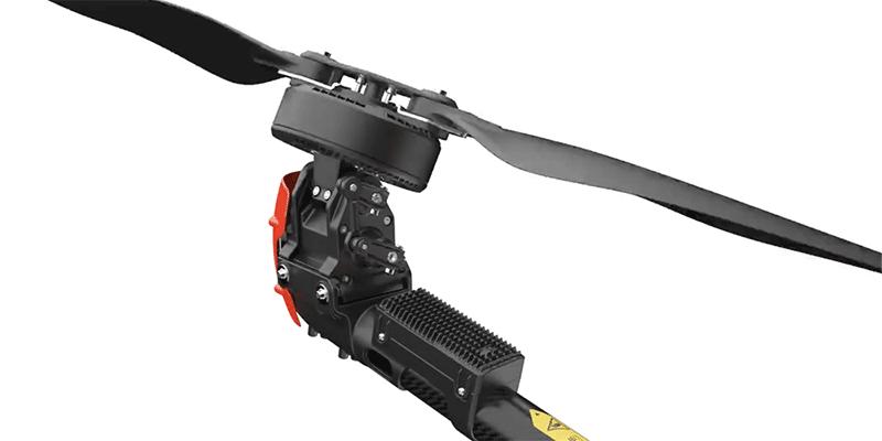 Detalle de los propulsores basculantes del XAG V40