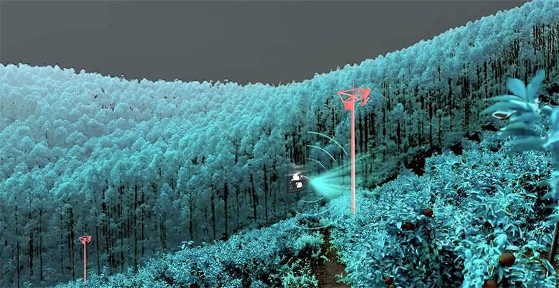 El XAG V40 equipa sensores anti colisión y radar para evadir obstáculos de forma eficiente.