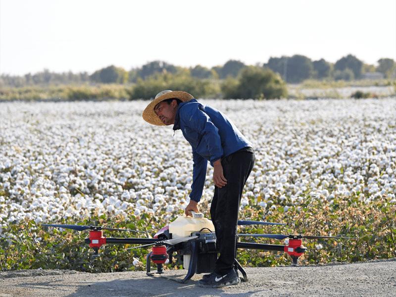 Los drones de la serie P de XAG son fáciles de manejar.