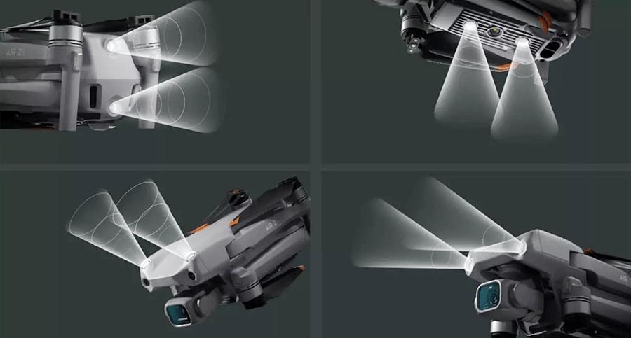 Sensores detección obstáculos en 4 direcciones del Air 2 S