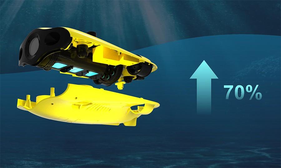 70% más batería, nuevo ROV CHASING Gladius Mini S