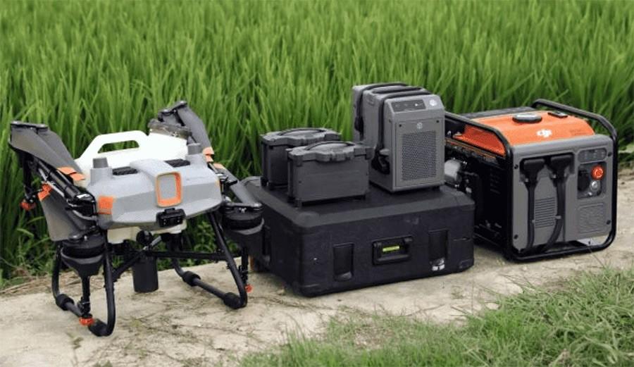 Sistema No tripulado de Agricultura Inteligente DJI Agras T10 con todos sus componentes.