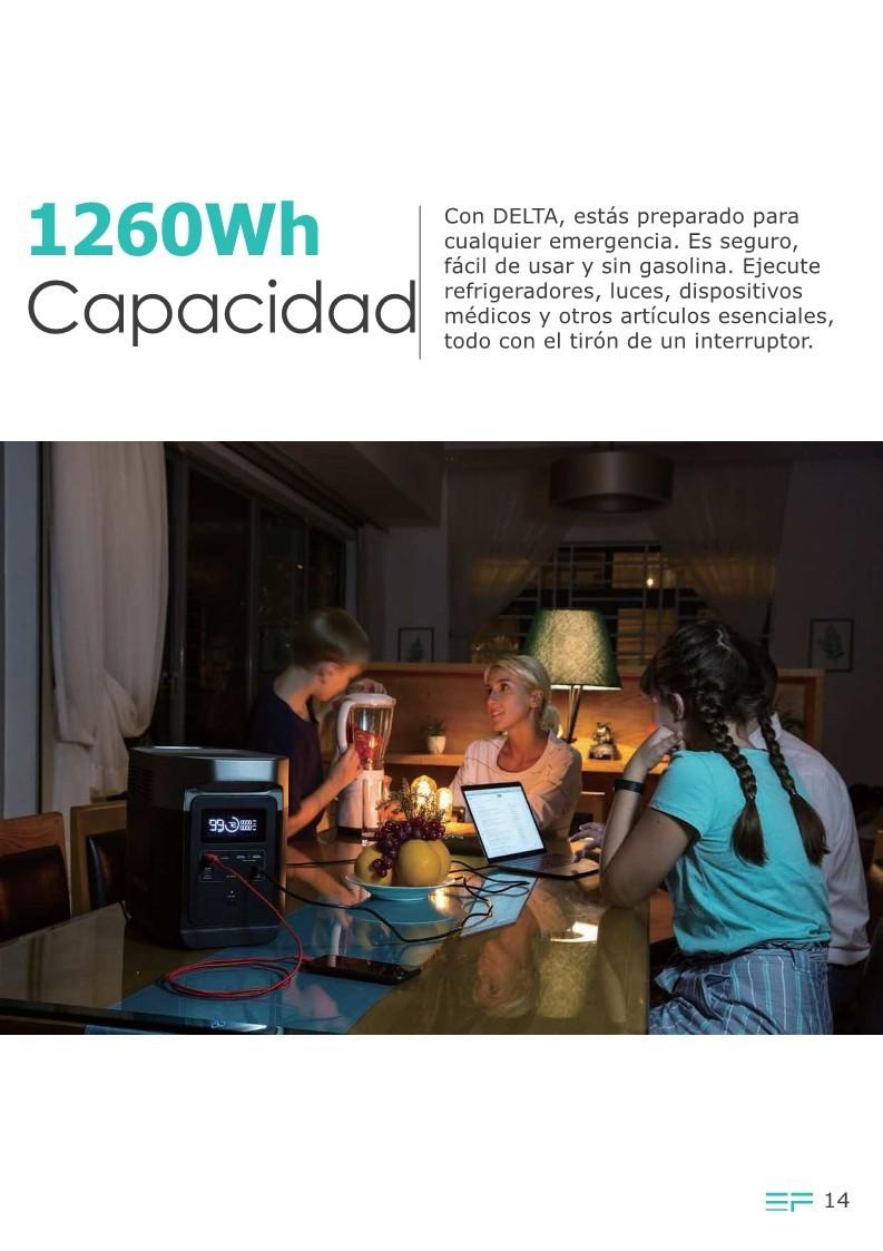 EcoFlow DELTA Estación de energía eléctrica portátil 1260Wh