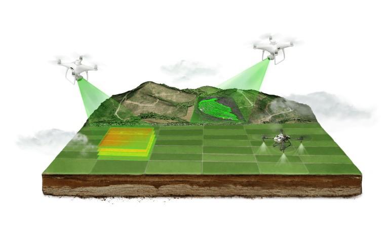 DJI Agras posibilita el trabajo colaborativo y la agricultura inteligente