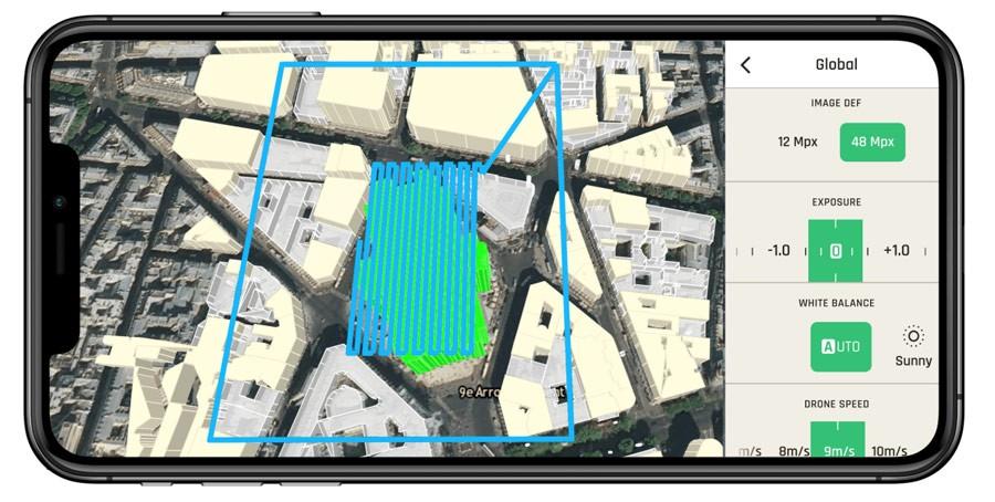 App de vuelo del drone Parrot ANAFI Ai