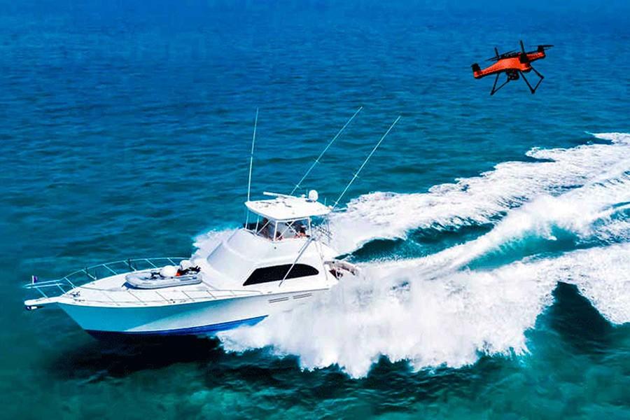 SwellPro Splash 4 hidro Drone Seguimiento dinámico en movimiento
