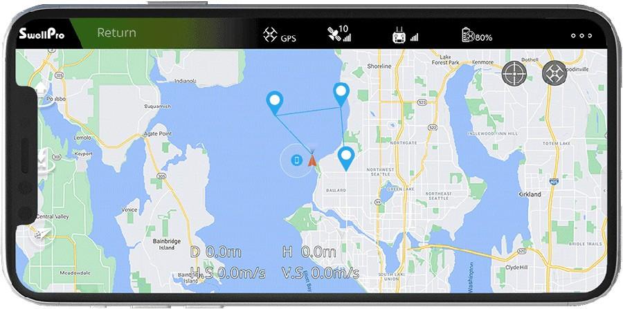Planificación de misiones con la App de vuelo de SweelPro para Splash 4