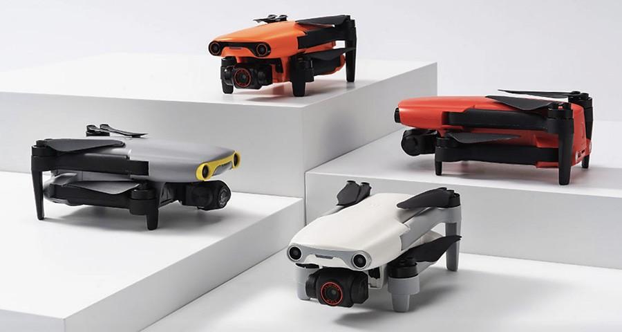 Autel EVO Nano + en cuatro atractivos colores diferentes.