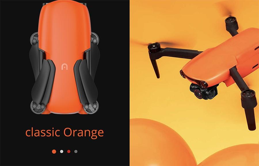Drone EVO Nano en color naranja clásico Autel